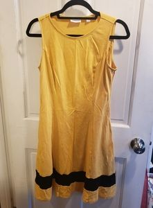 New York & Co Yellow and Black Dress